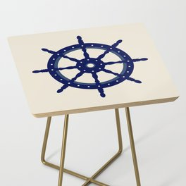 AFE Navy Helm Wheel, Nautica Art Side Table