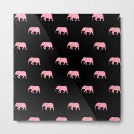 pink elephants . illustration Metal Print