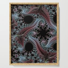 Intricate Fractal Serving Tray
