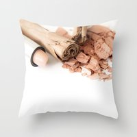 makeup Throw Pillows featuring Makeup 01 by VanessaGF