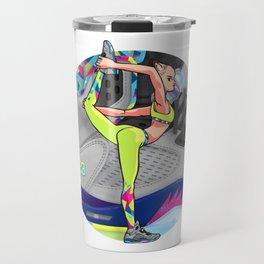 Yoga girl Cool Noodle and Jordan Fresh Prince Travel Mug