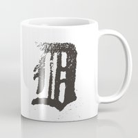 detroit Mugs featuring Detroit by Landon Sheely