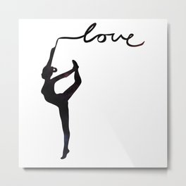 Gymnastics love Metal Print