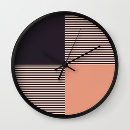 Dash in Orange and Black Wall Clock