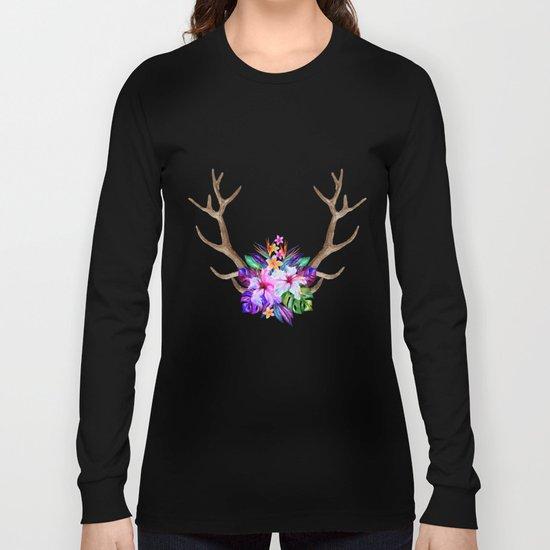 Floral Horn Long Sleeve T-shirt