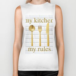 kitchen rules gold modern farmhouse Biker Tank