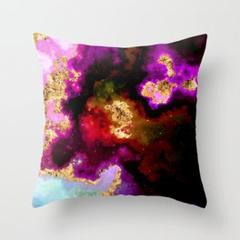 100 Starry Nebulas in Space 008 (Portrait) Throw Pillow