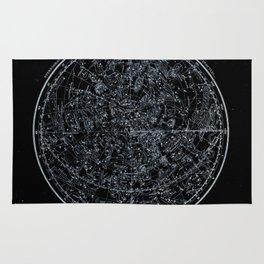Northern Hemisphere Constellations White Blue Rug