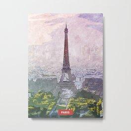 Paris city skyline Metal Print