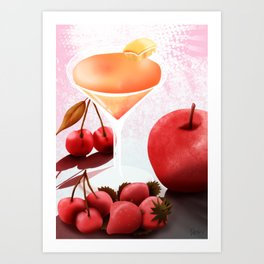 Fruits Cocktail Art Print