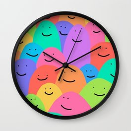 Color blobs pattern vibrant awesome cool  Wall Clock