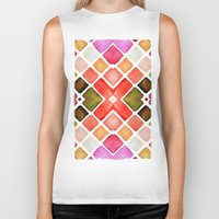 watercolor Biker Tanks featuring WATERCOLOR by Monika Strigel