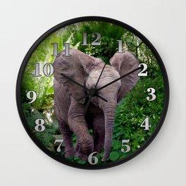 Elephant and Jungle Wall Clock