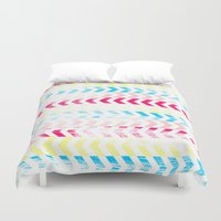 arrow Duvet Covers featuring Arrow by Louise Machado