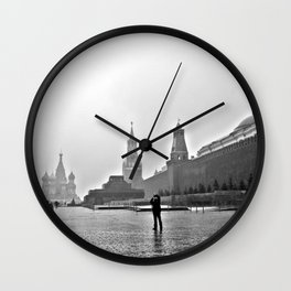 Red Square Wall Clock