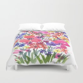 Little Pink Poppies Duvet Cover