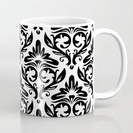 oriantal illustration decorative black seamless graphic pattern floral motifs Coffee Mug