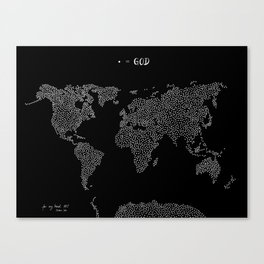 Everyone is made of God MAP Canvas Print