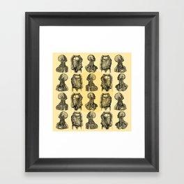 Human Anatomy Pattern Framed Art Print