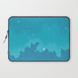 Aqua Pixel Skyscape Laptop Sleeve