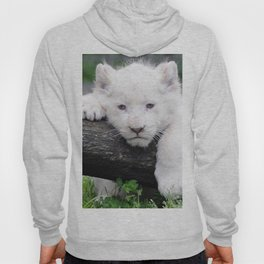 'Too Pooped to Pop' Baby Albino Lion Cub Hoody