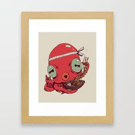 Spicy Ramen Framed Art Print