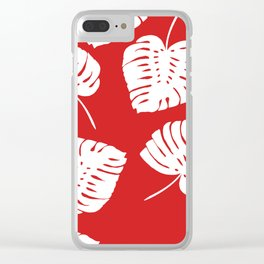 Tropical Red Clear iPhone Case