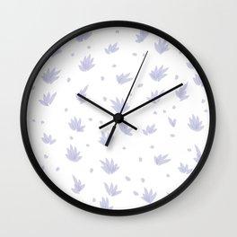 Lavender Flowers Wall Clock