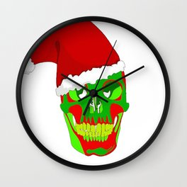 The Death Of Christmas - Santa's Skull  Wall Clock