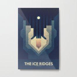 Europa - Ice Ridges  Metal Print