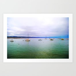 Boats in Capitola Art Print