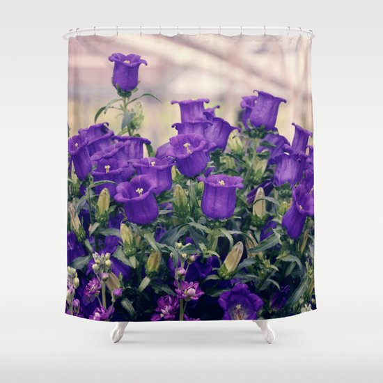 purple flowers shower curtain by juliana rw society6