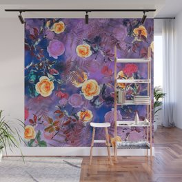 flowers purple Wall Mural