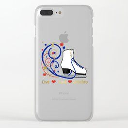 Live,Love,Synchro- Synchronized Figure Skating Design Clear iPhone Case