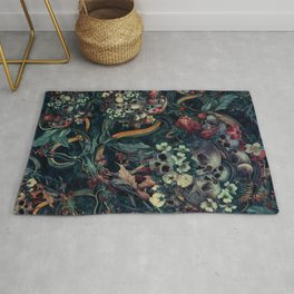 Skulls and Snakes Rug