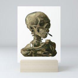 Van Gogh, Head of Skeleton Artwork Skull Reproduction, Posters, Tshirts, Prints, Bags, Men, Women, K Mini Art Print