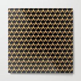 Gold Chines 1 Metal Print