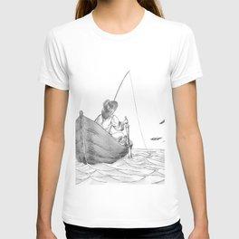 man fishing T-shirt