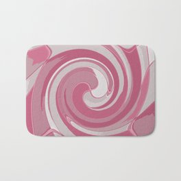 Spiral in Pink and White Bath Mat