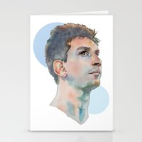 messi Stationery Cards featuring Lionel Messi by Megan Diño