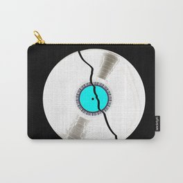Isolated Broken White Record Carry-All Pouch