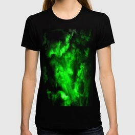 Envy - Abstract In Black And Neon Green T-shirt