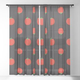 tomatoes tomato Sheer Curtain