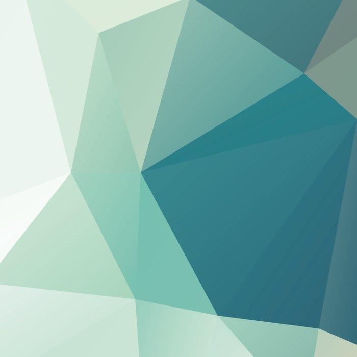 Lagoon – modern polygram illustration Duvet Cover