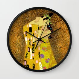 The Samurai Kiss Wall Clock