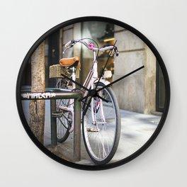 Miss bicycle Wall Clock