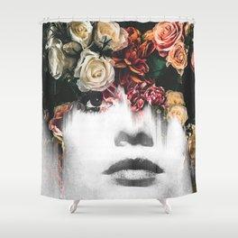 Floral Portrait Shower Curtain