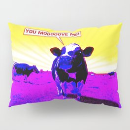 Psychedelic Cows Pillow Sham