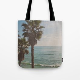 palm tree and ocean. California Vacation Tote Bag