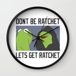 Evil Kermit Meme Wall Clock
